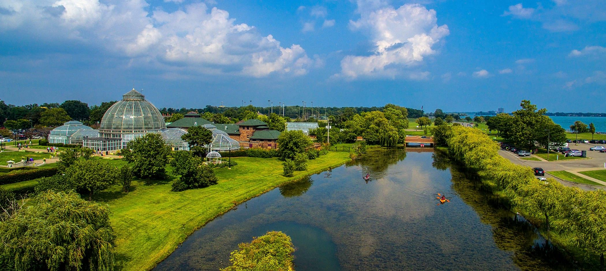Belle Isle park Aerial view