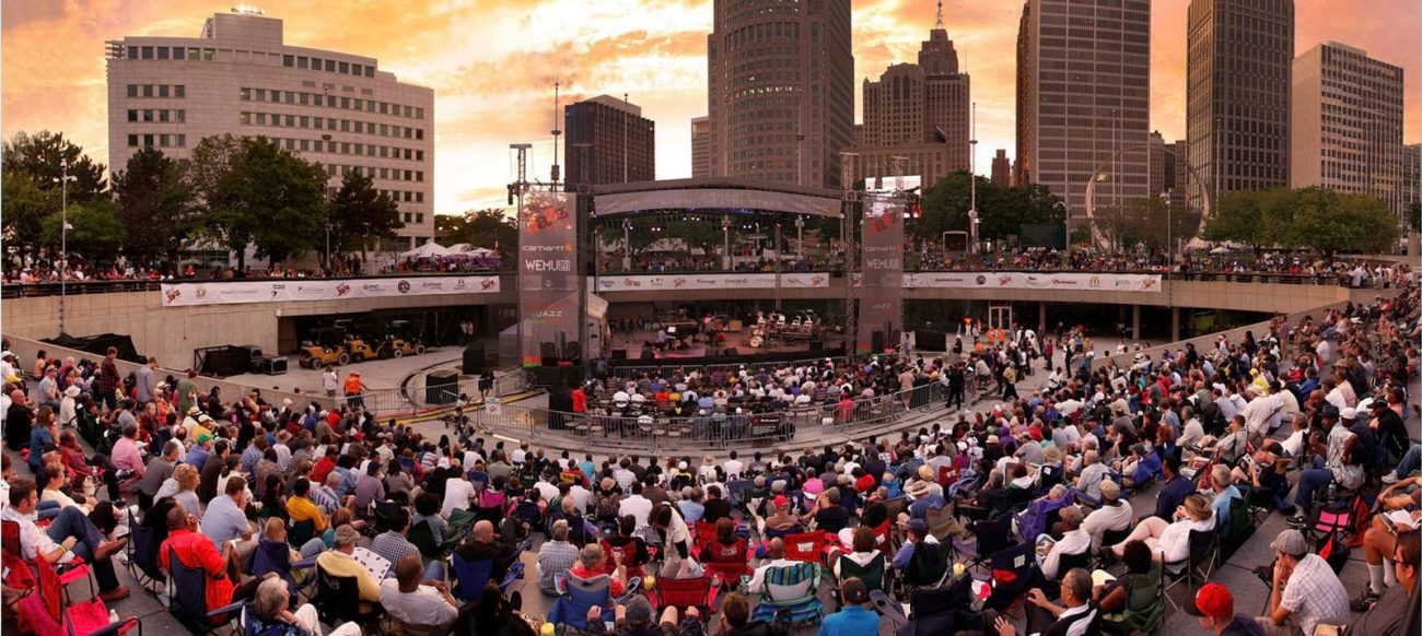 Detroit Jazz Festival in downtown Detroit