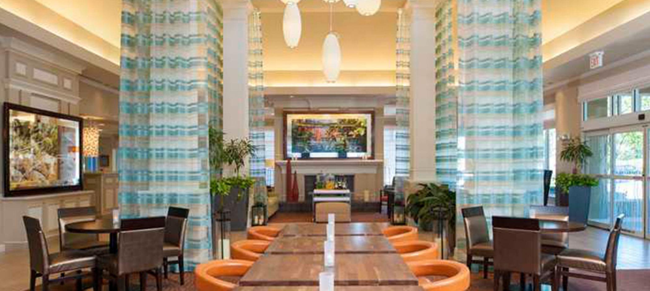 Hilton Garden Inn Plymouth lobby