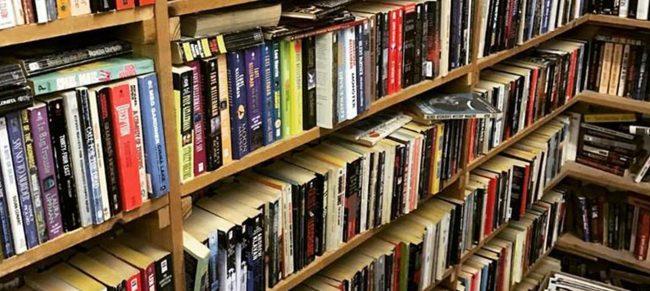 John King Used & Rare Books book shelves