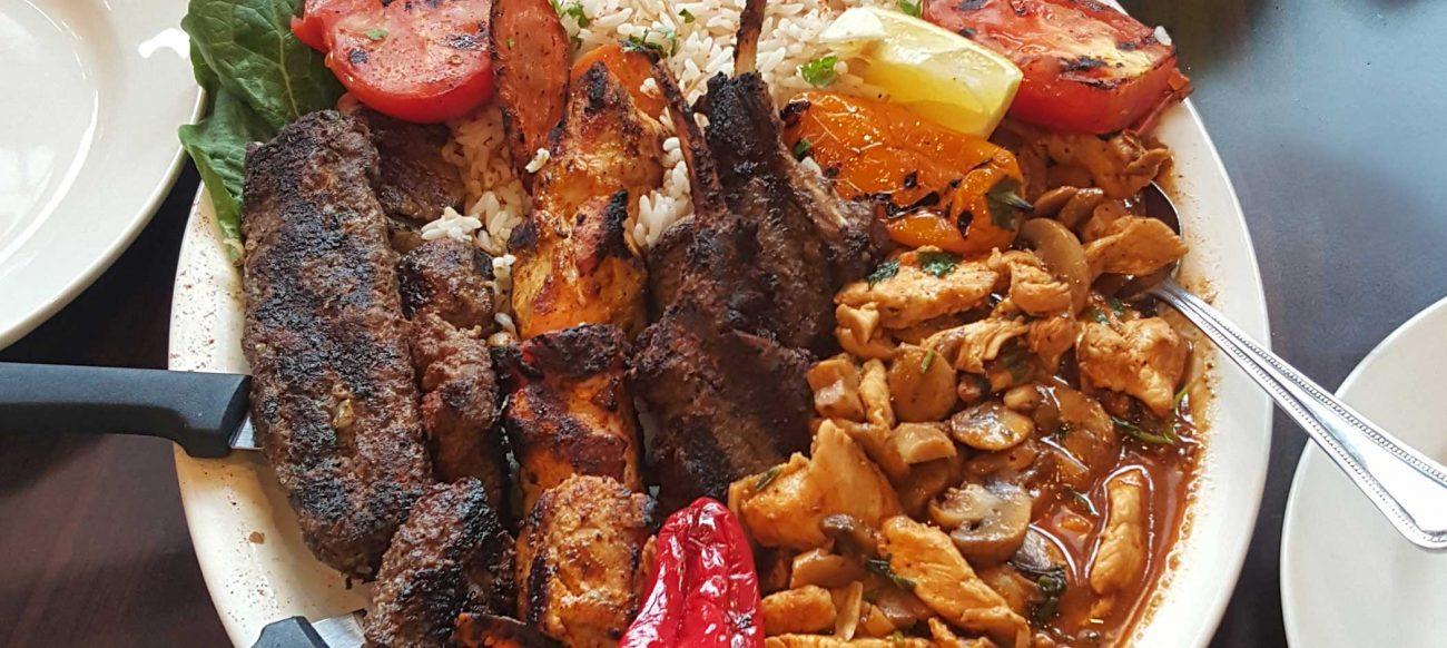 La Palma Mediterranean food combo plate