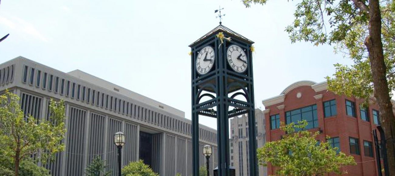 Macomb County Film Office clock tower