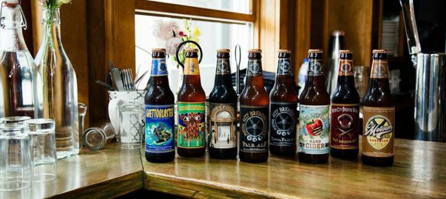 Motor City Brewing Works beer bottles, Detroit breweries