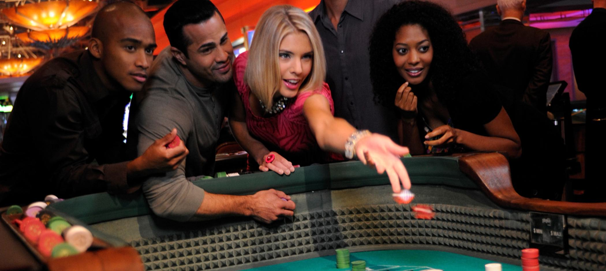 Motor City Casino craps table