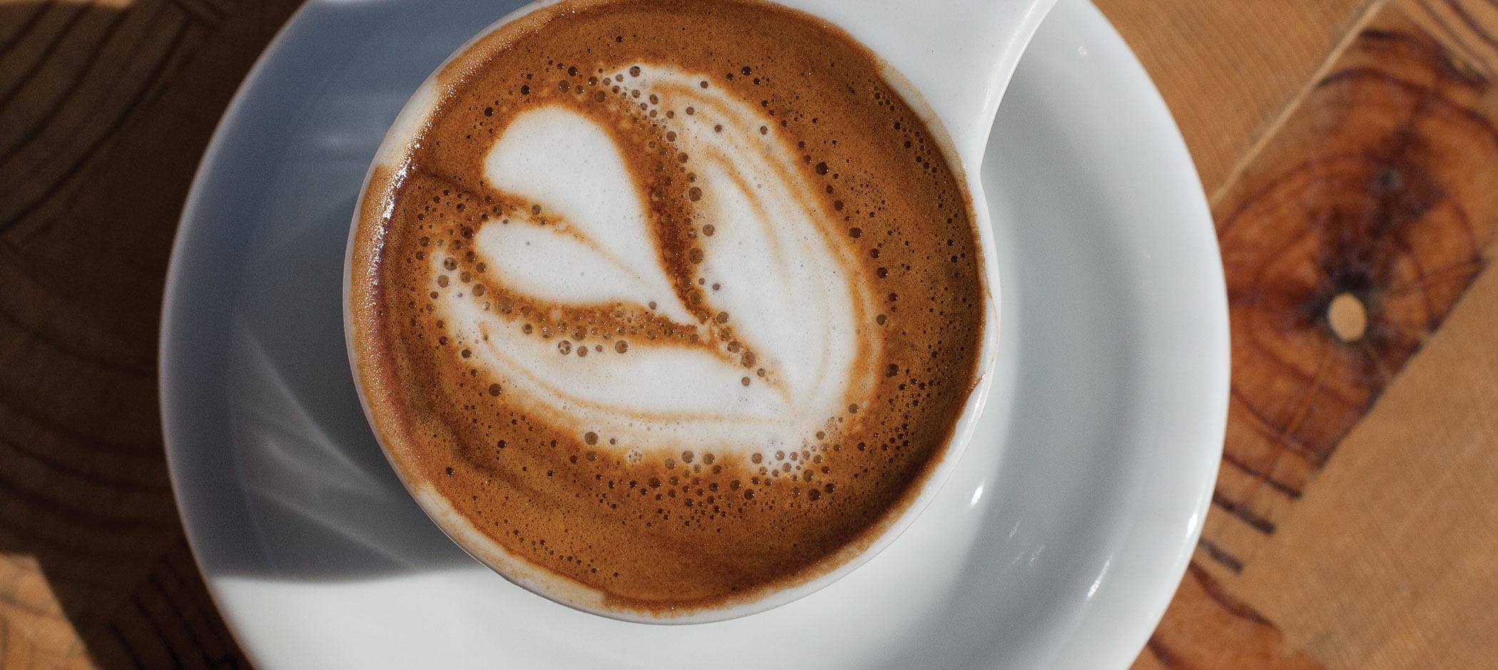 A latte at Great Lakes Coffee Roasting Company in Detroit