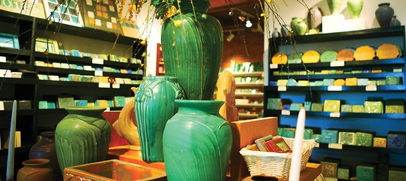 Pewabic Pottery vases, a perfect Detroit gift