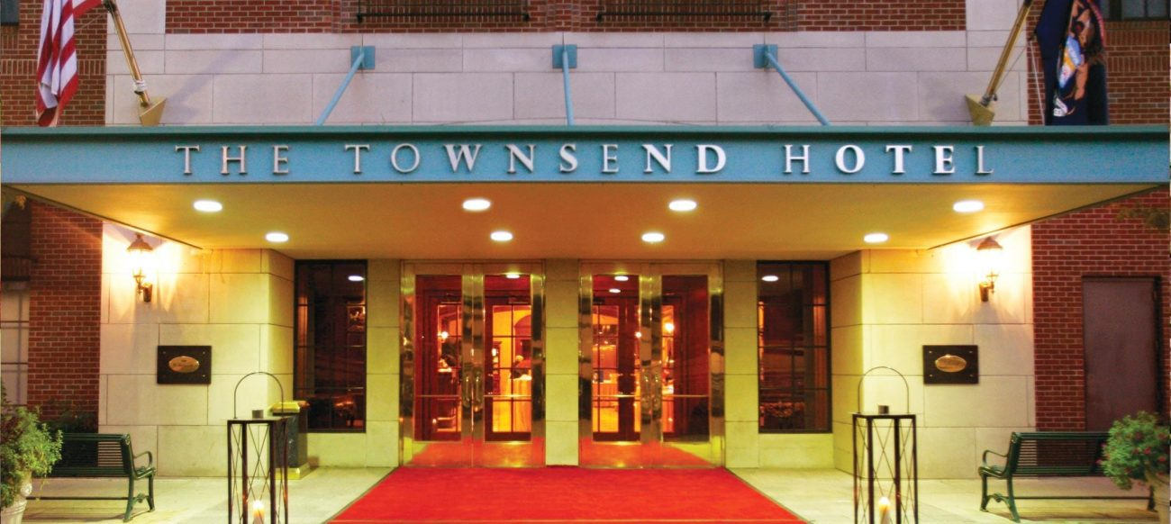 The Townsend Hotel entrance