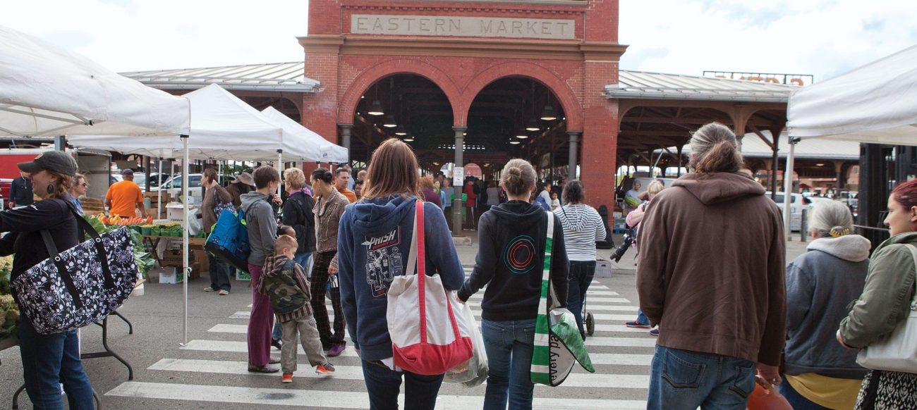 Shoppers at Eastern Market