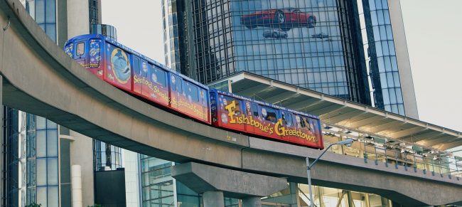 People Mover at the Ren Cen