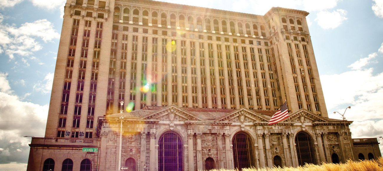 Michigan Central Train Station in Corktown