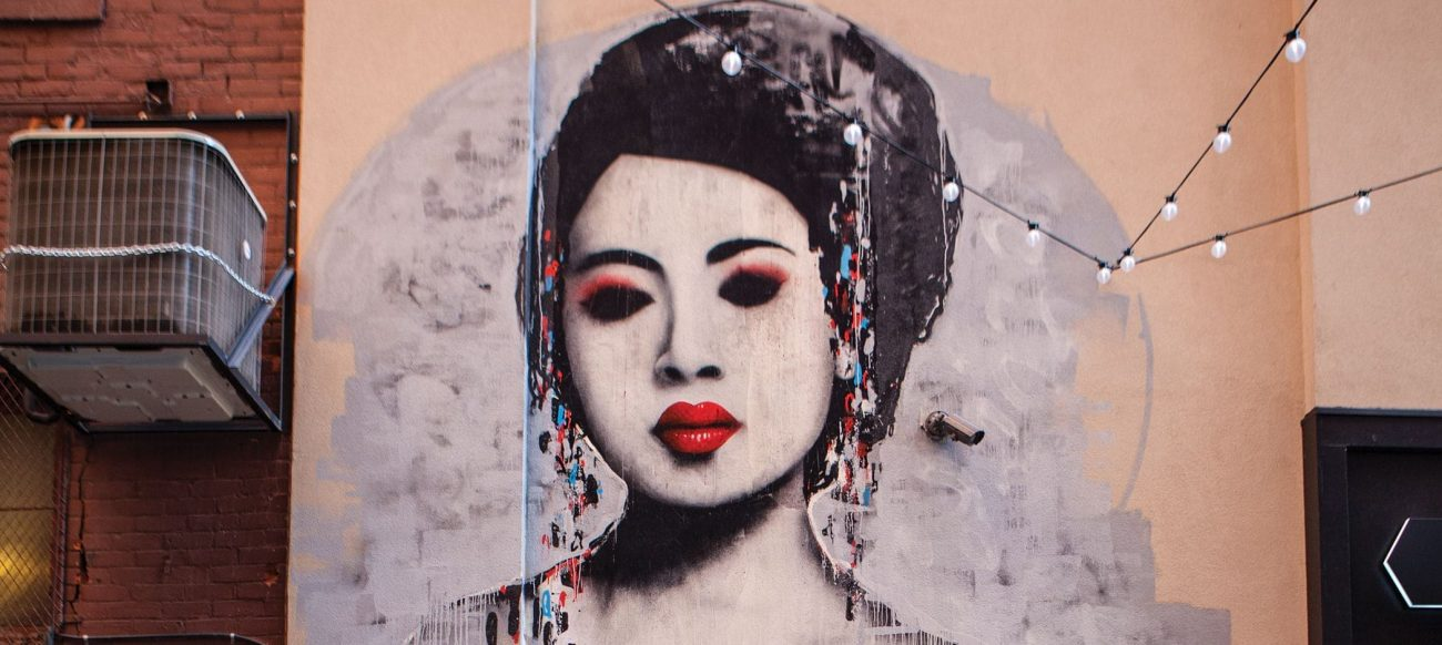 Geisha Mural by Hush
