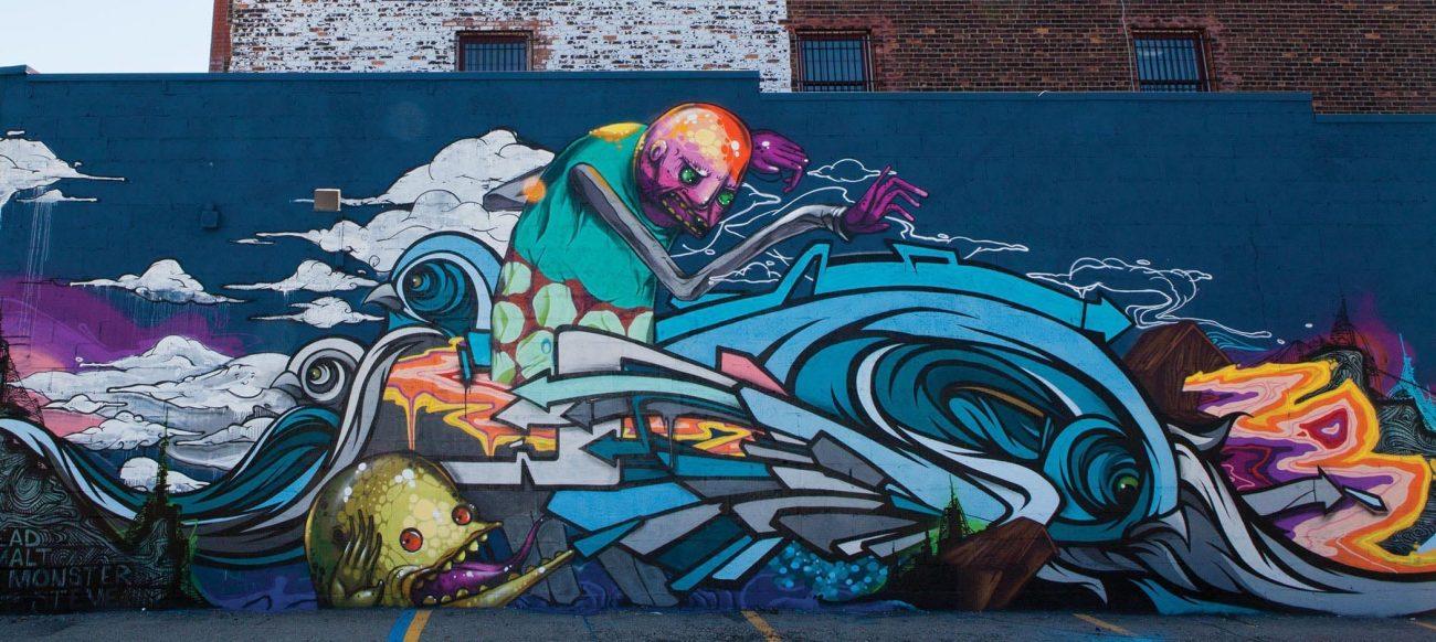 Mural in the Grand River Creative Corridor