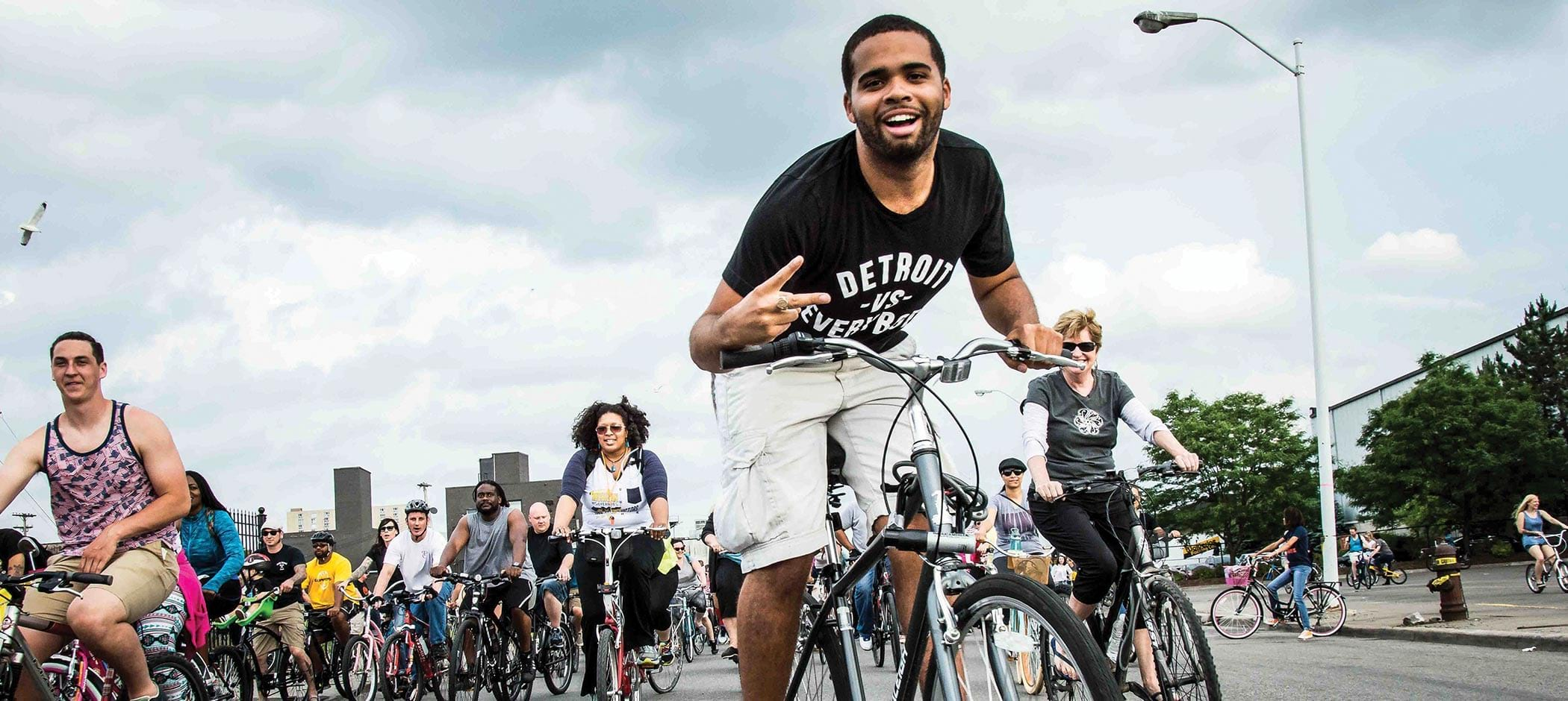 Detroit Slow Roll Bicycle Riders