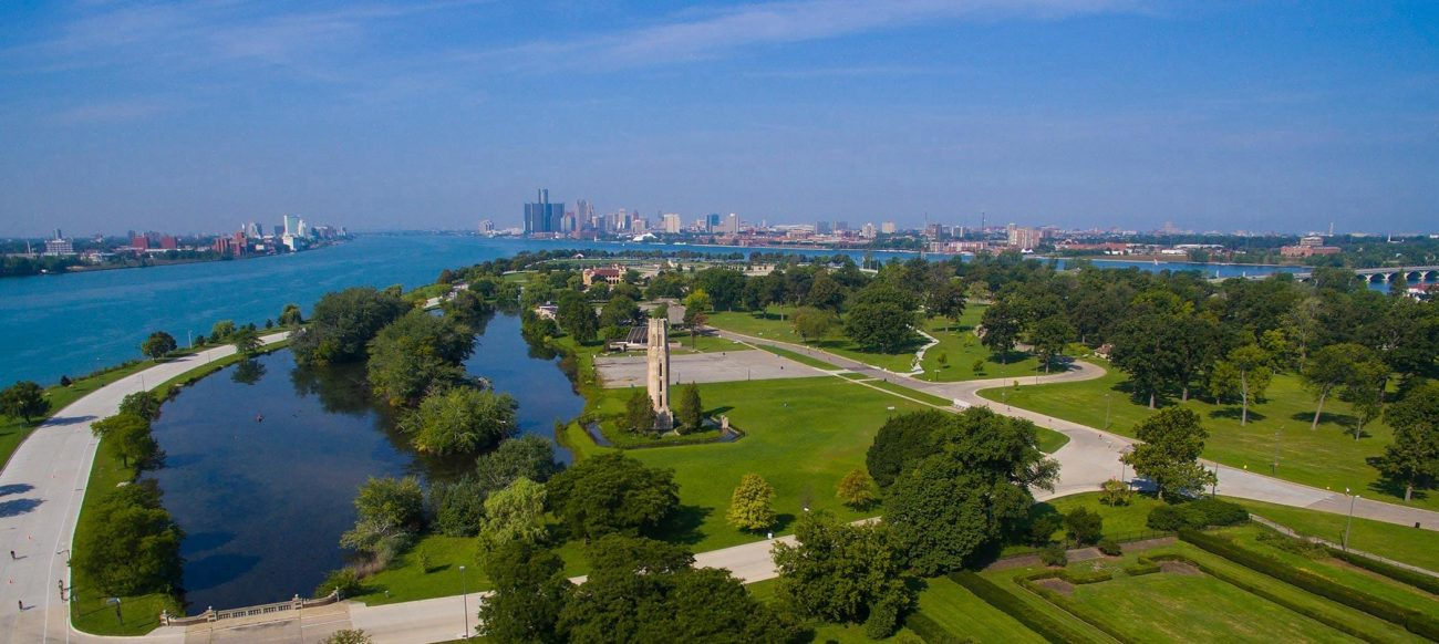 Belle Isle with view of downtown Detroit