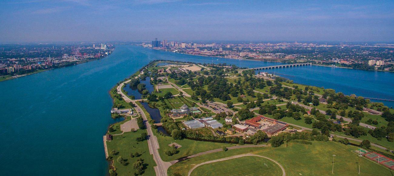 Aerial view of Belle Isle Park
