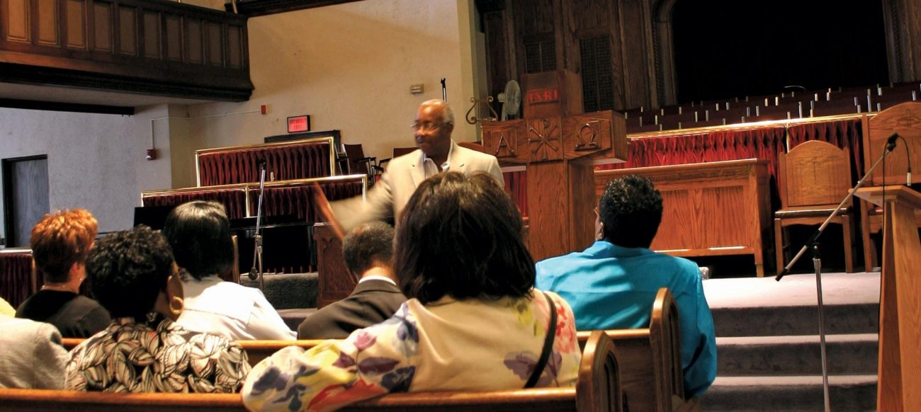 Preacher at Second Avenue Baptist Church in Detroit