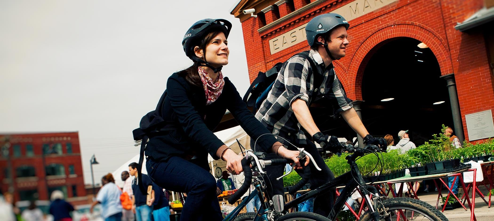 bike riders at Eastern Market