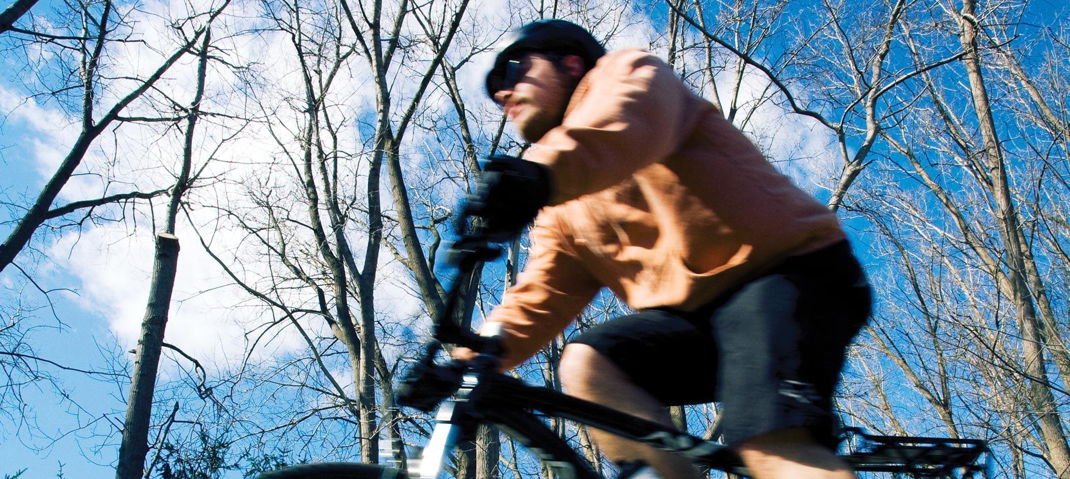 Huron-Clinton Metroparks biker