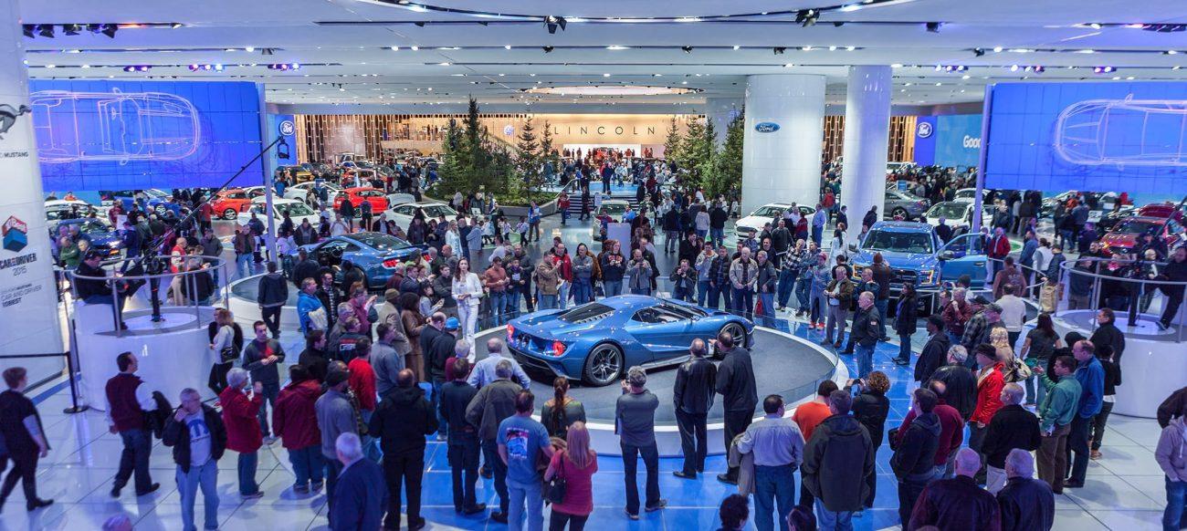 Auto show Ford exhibit