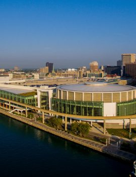 Cobo Center on the river