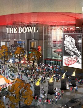 Little Caesars Arena rendering