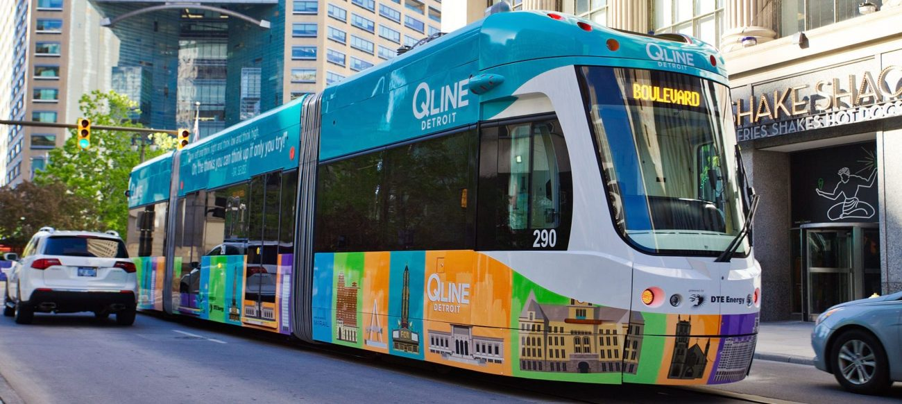 The QLine in downtown Detroit
