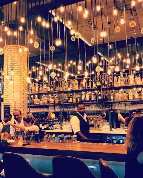 Foundation Hotel bar lights drinks