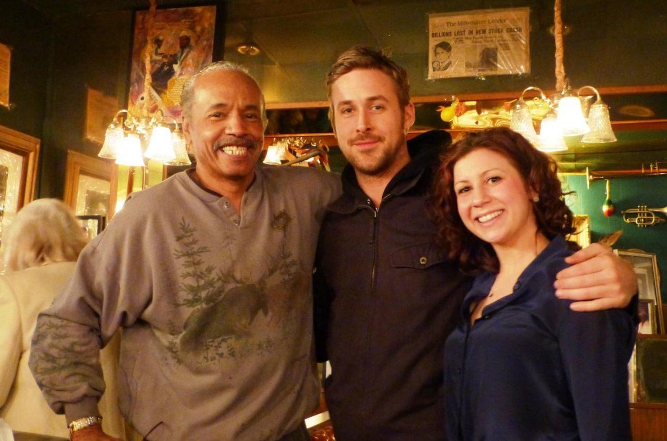 Ryan Gosling at Cafe D'Mongo
