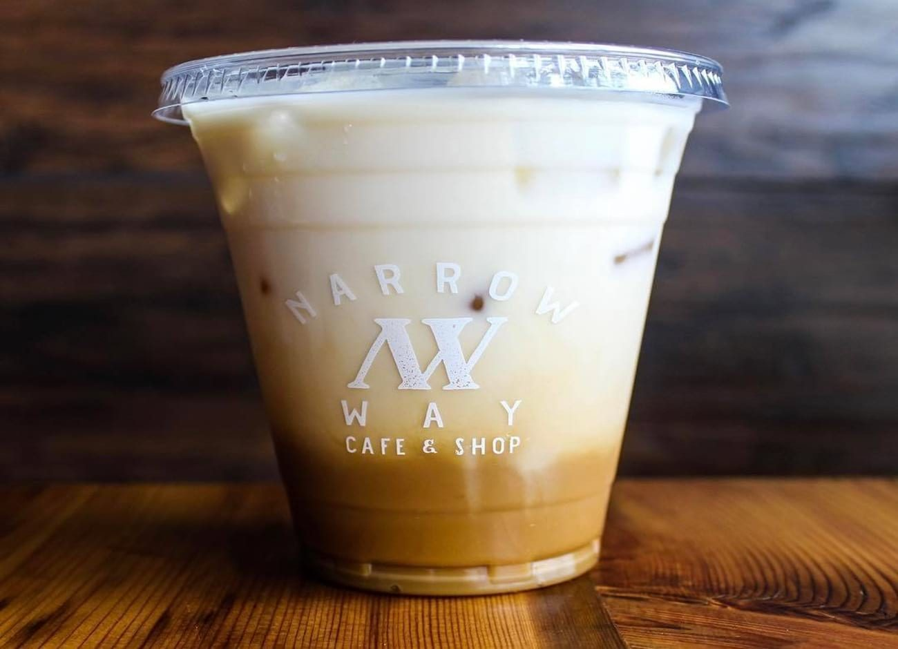 Iced coffee at Narrow Way Cafe in Detroit
