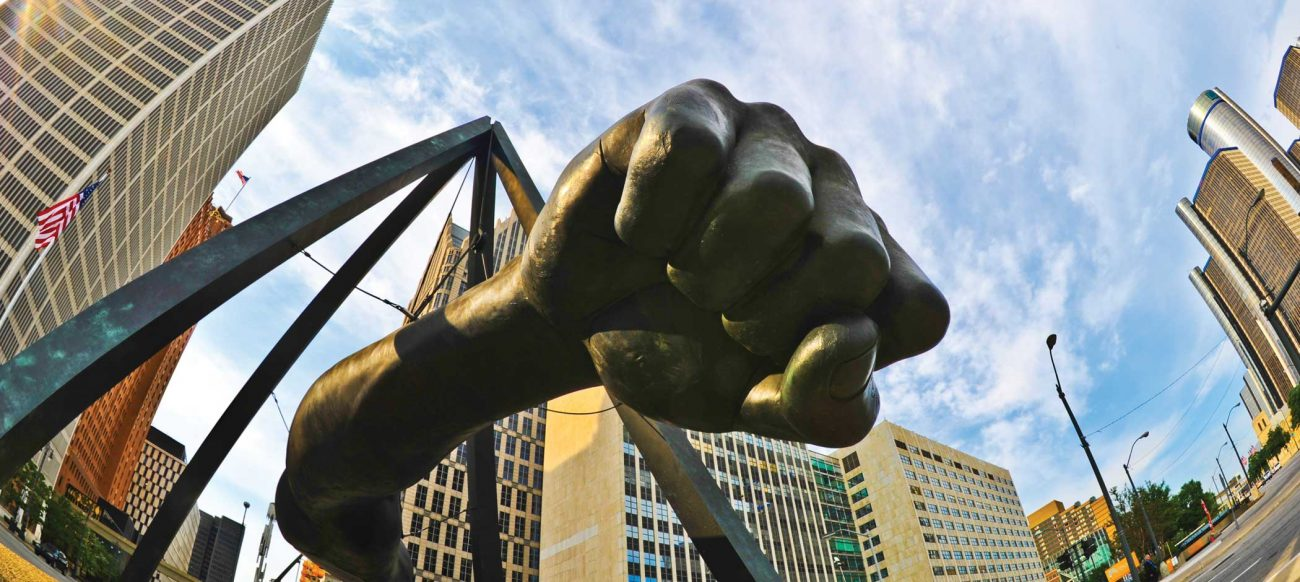 Joe Louis Fist statue Detroit