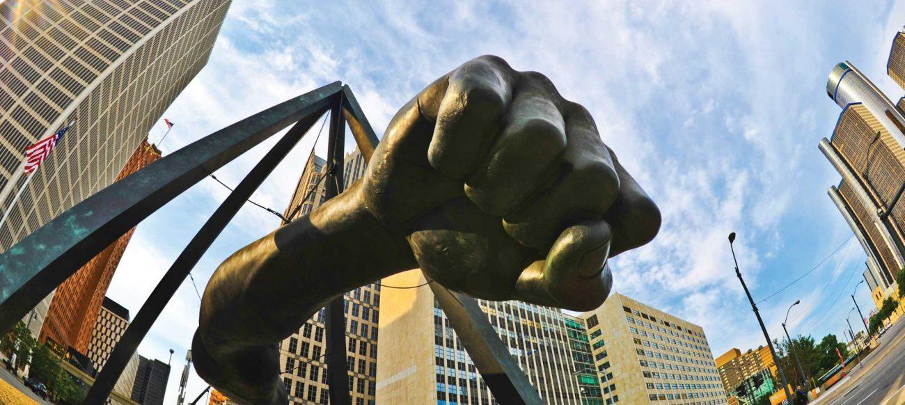 Joe Louis Fist statue Detroit