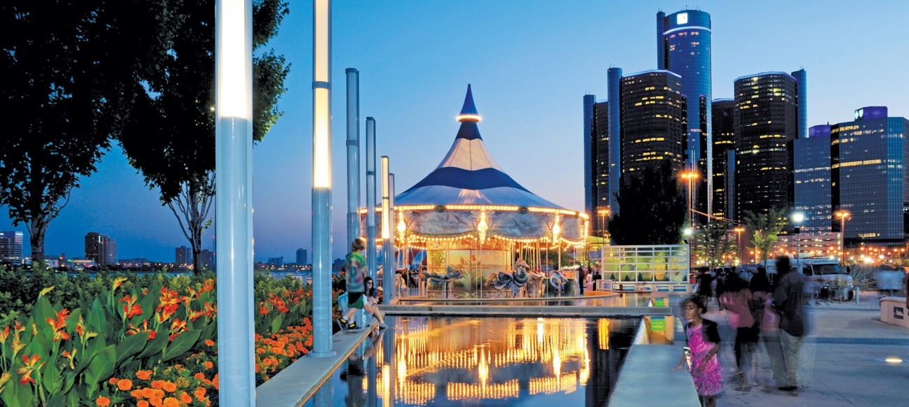 Carousel on the Detroit riverfront