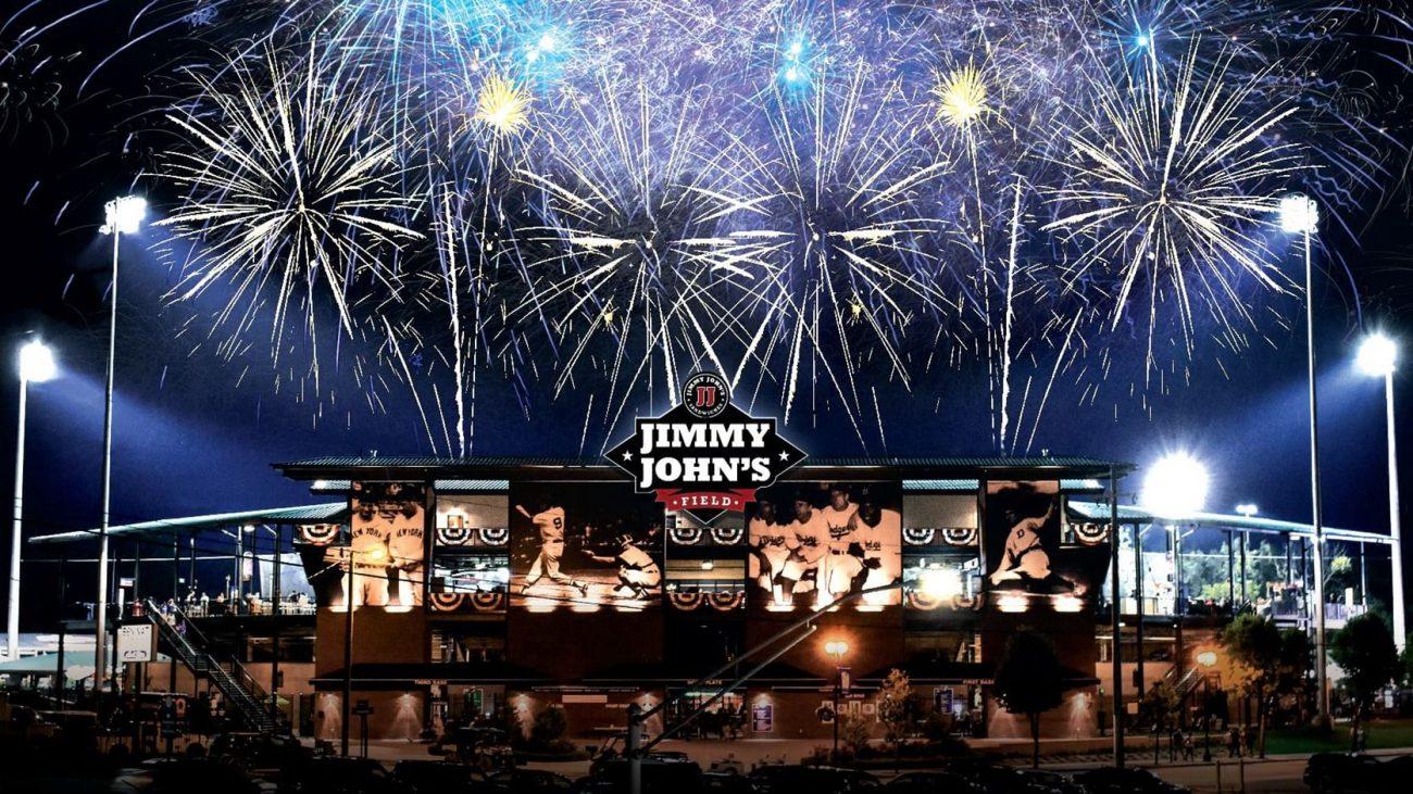 Jimmy John's Field fireworks