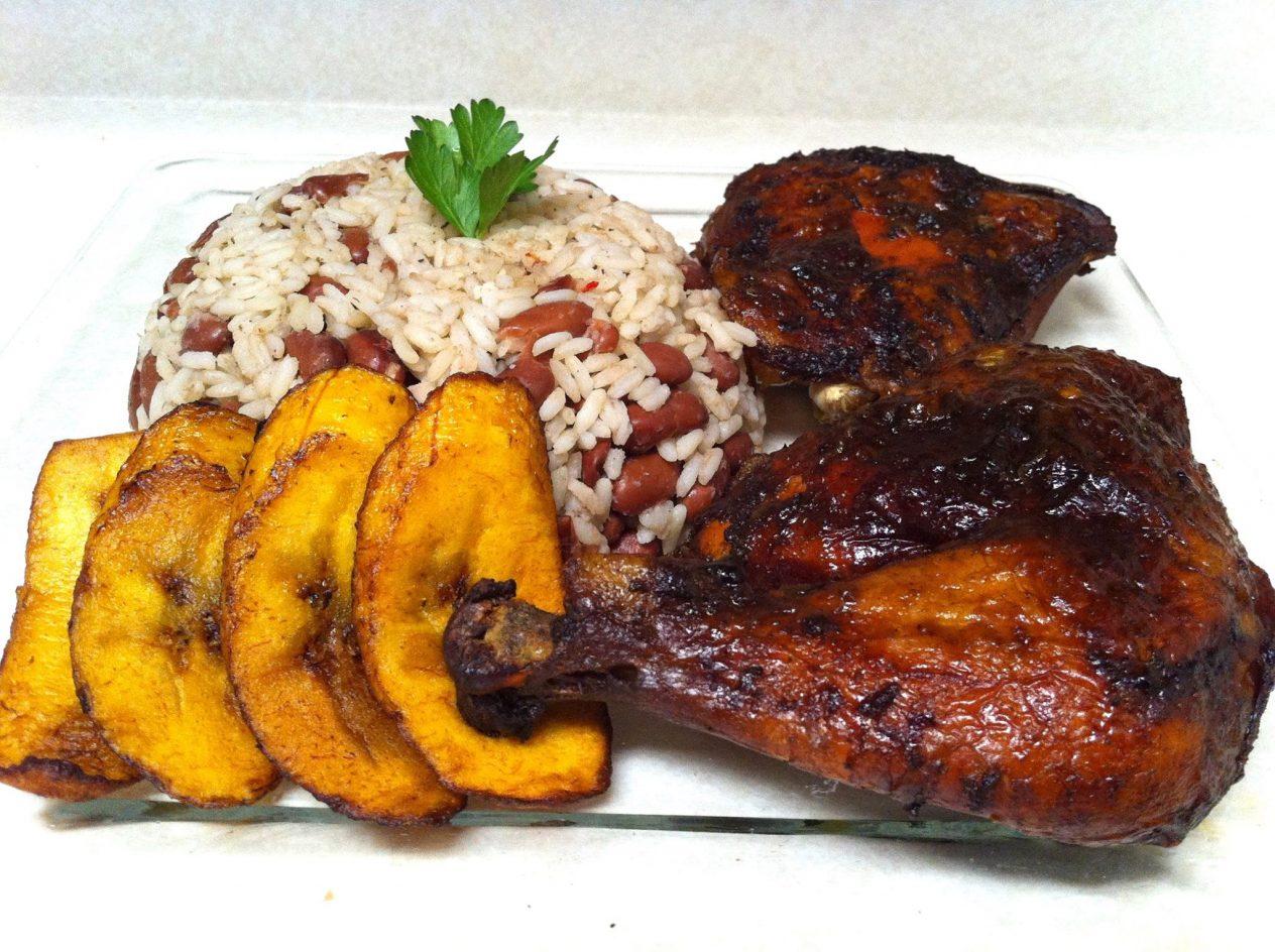Jamaican food at Jamican Fenton's Jerk Chicken
