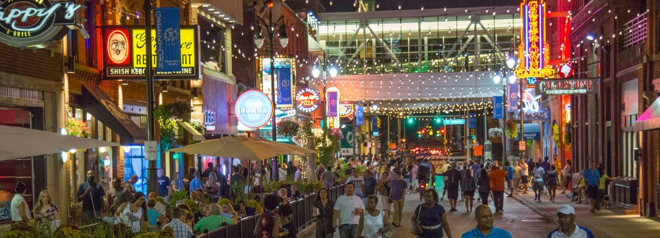 Greektown Detroit nightlife
