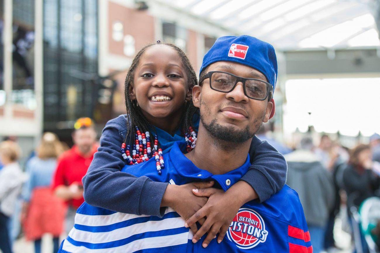 Little Caesars Arena Pistons fans