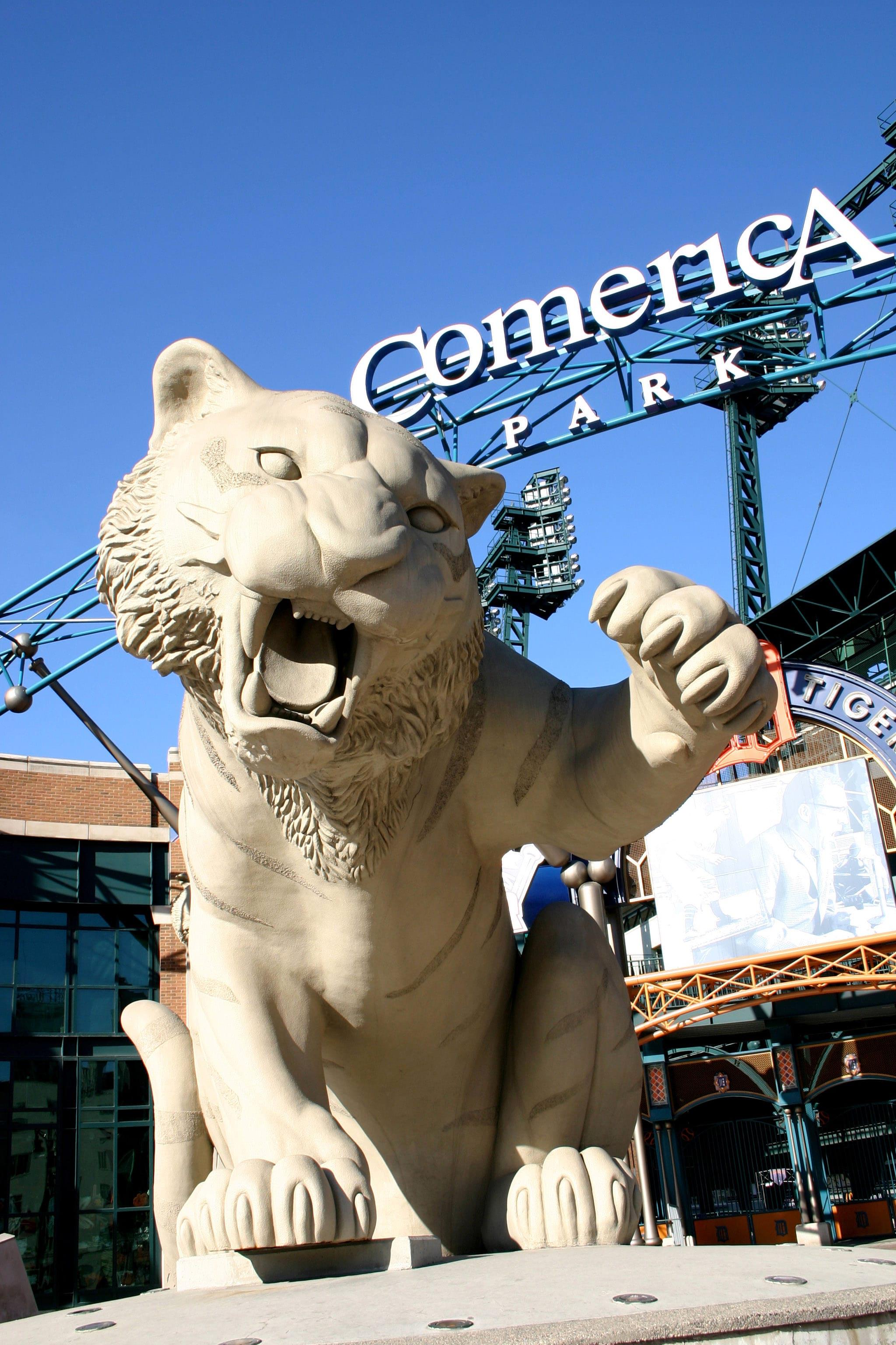 Comerica Park tiger statue