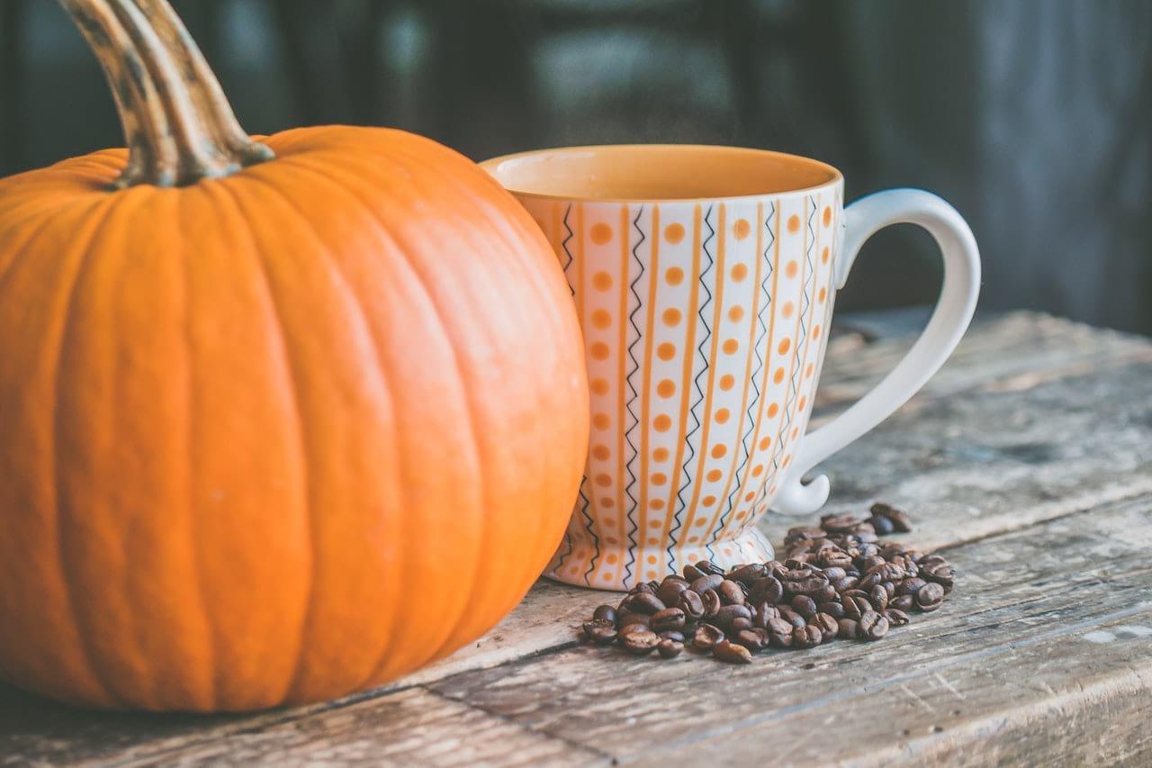 Pumpkin and coffee mug