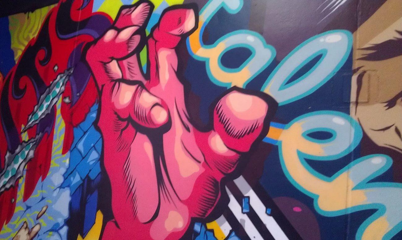 Z lot garage murals in Detroit