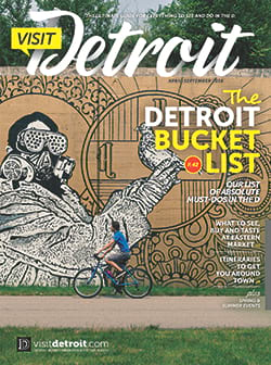 Visit Detroit magazine Spring and Summer 2016 issue cover