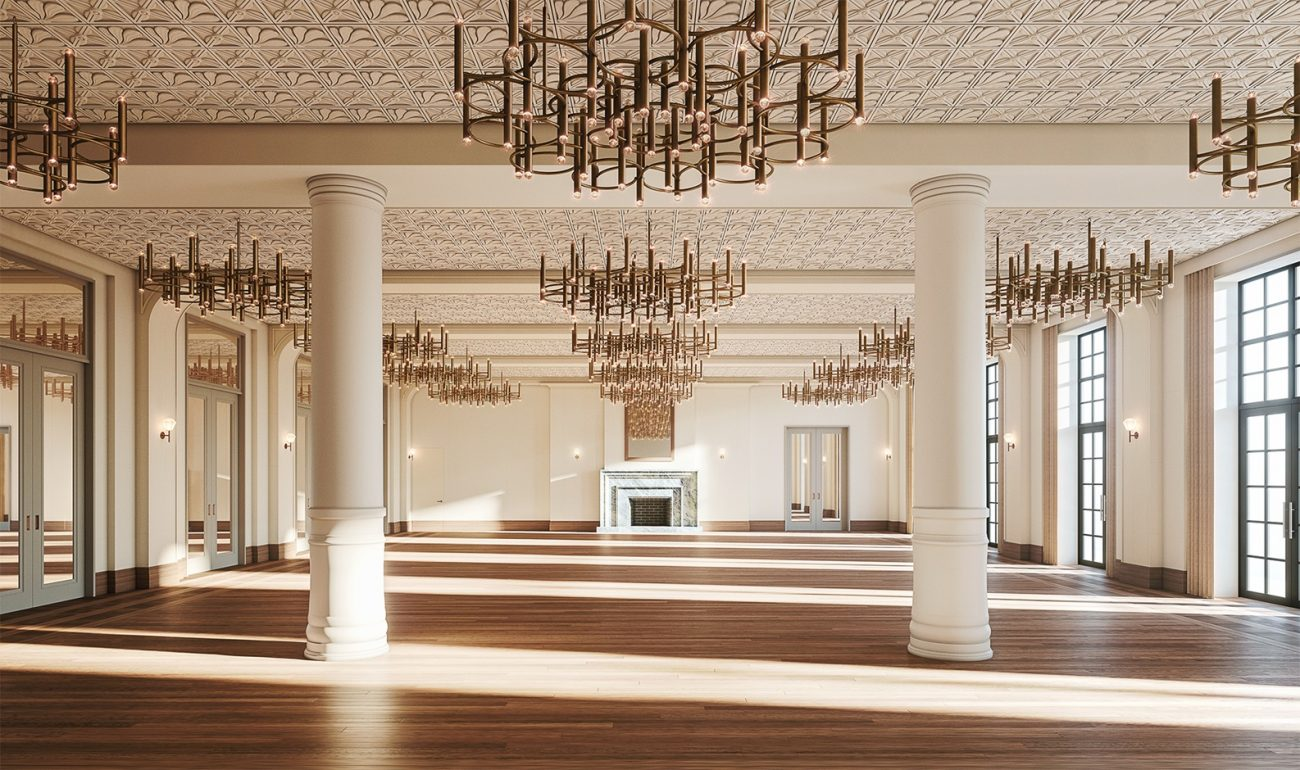 Shinola Hotel Detroit ballroom