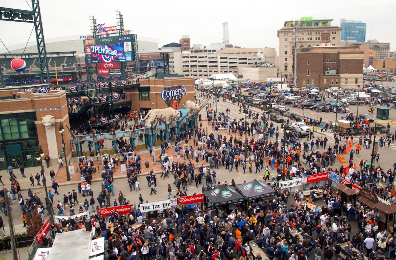 Opening Day party in Detroit