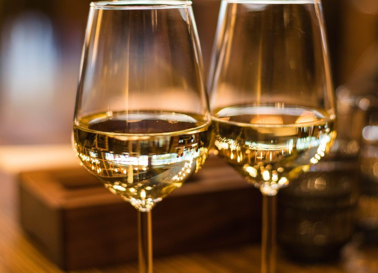 Detroit Vineyards glass of wine
