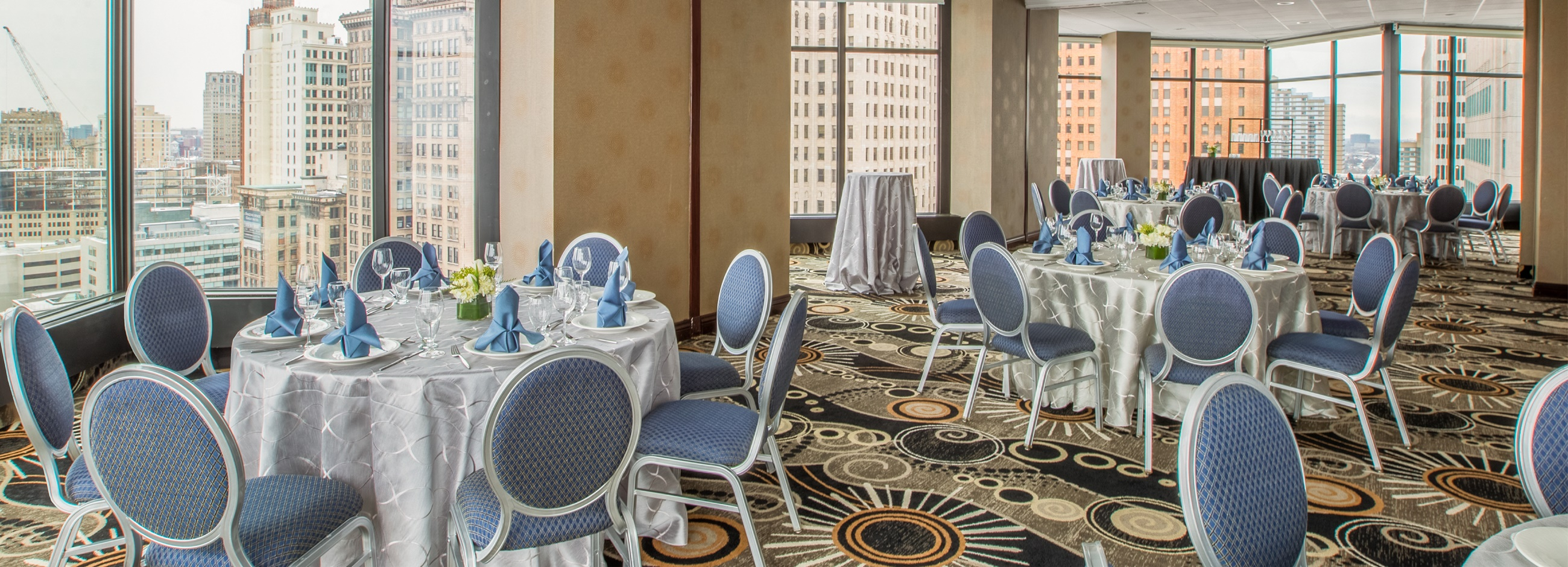 Meeting room at the Crowne Plaza Detroit Downtown Riverfront