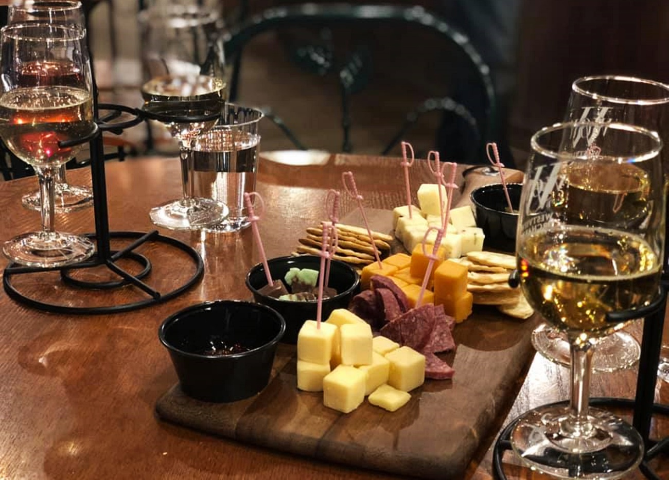 Westview Orchard wine and cheese tasting