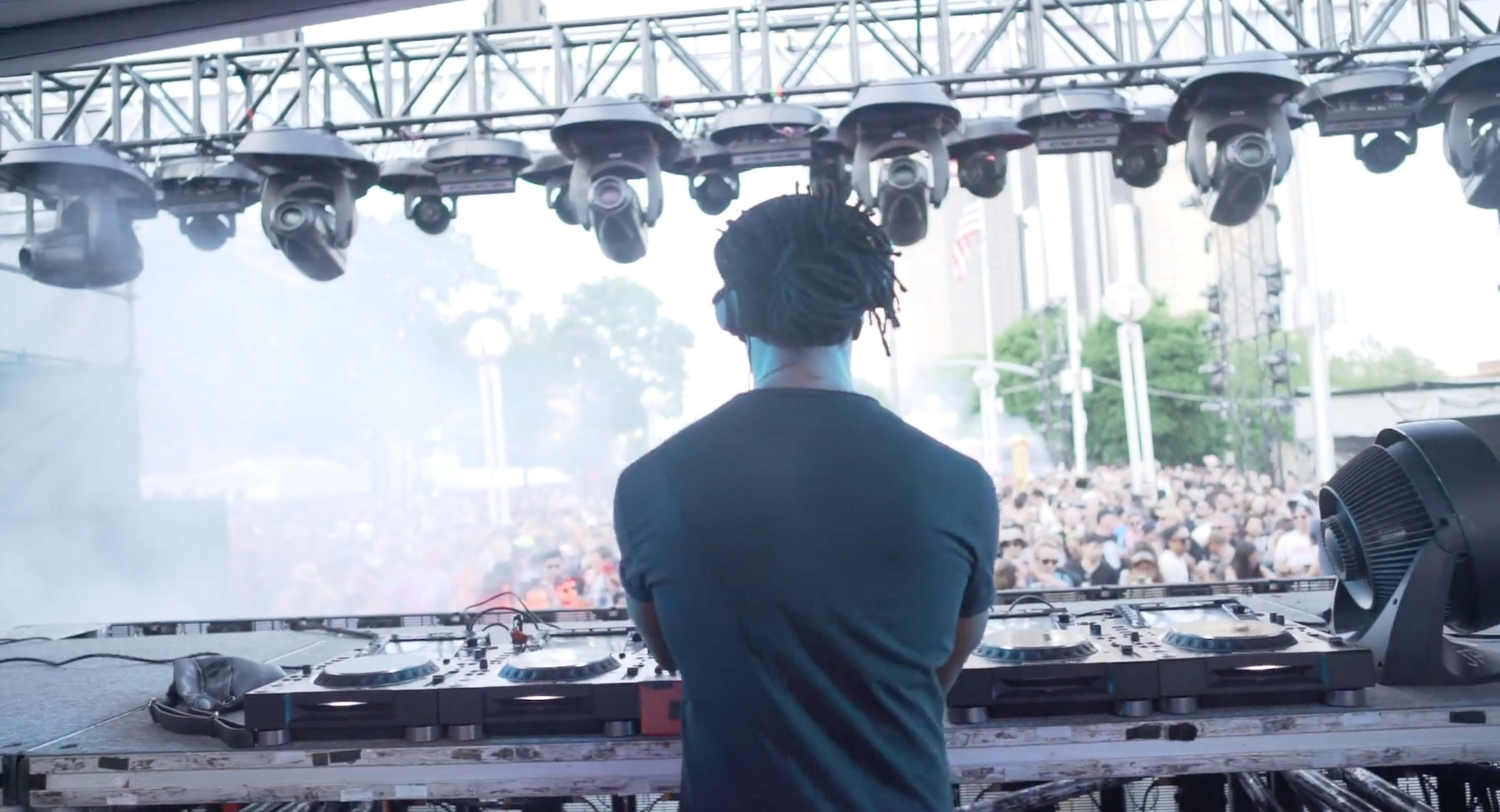 Detroit techno DJ performing at Movement music festival