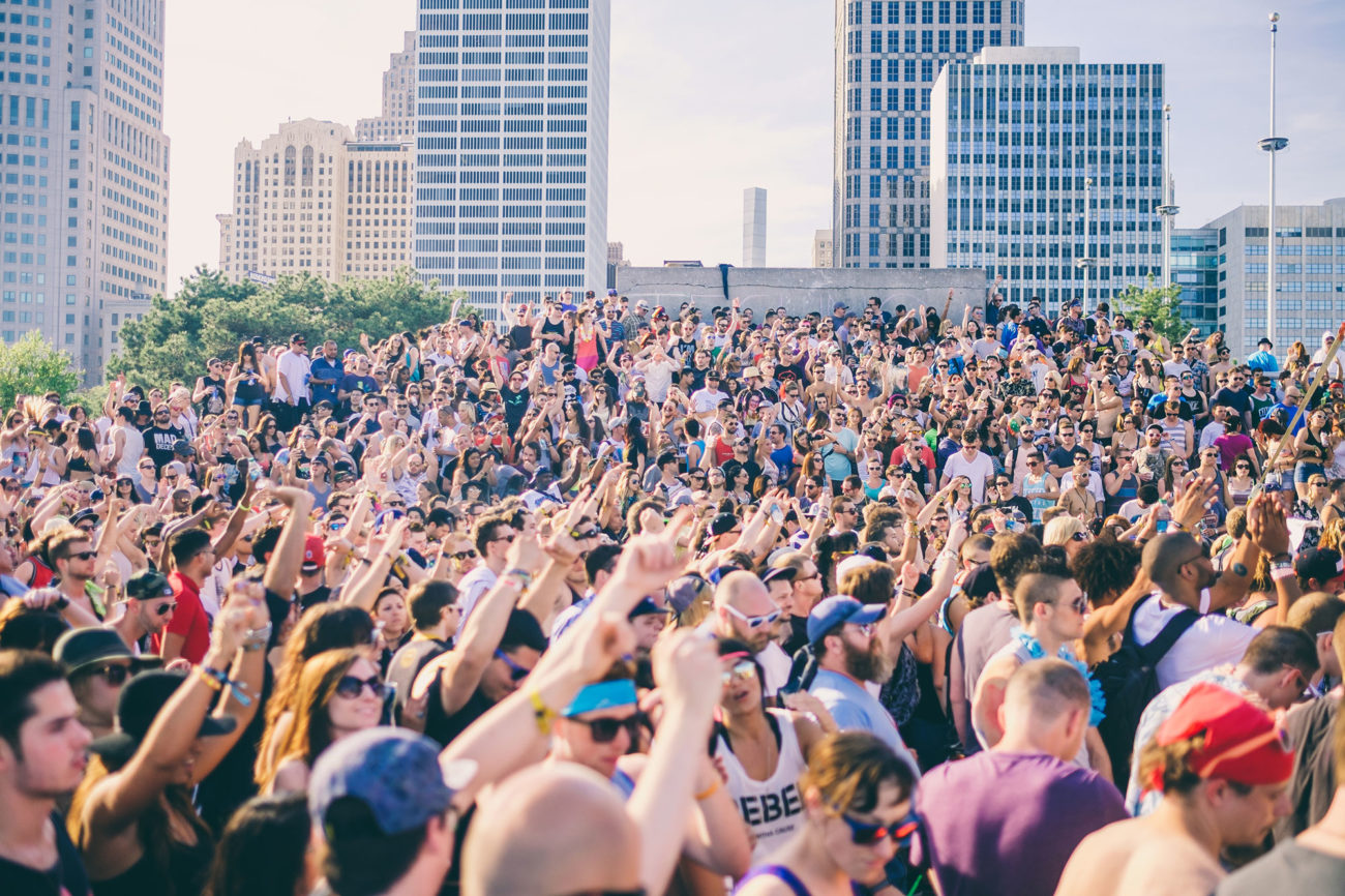 Crowd at Movement Detroit music festival in 2019