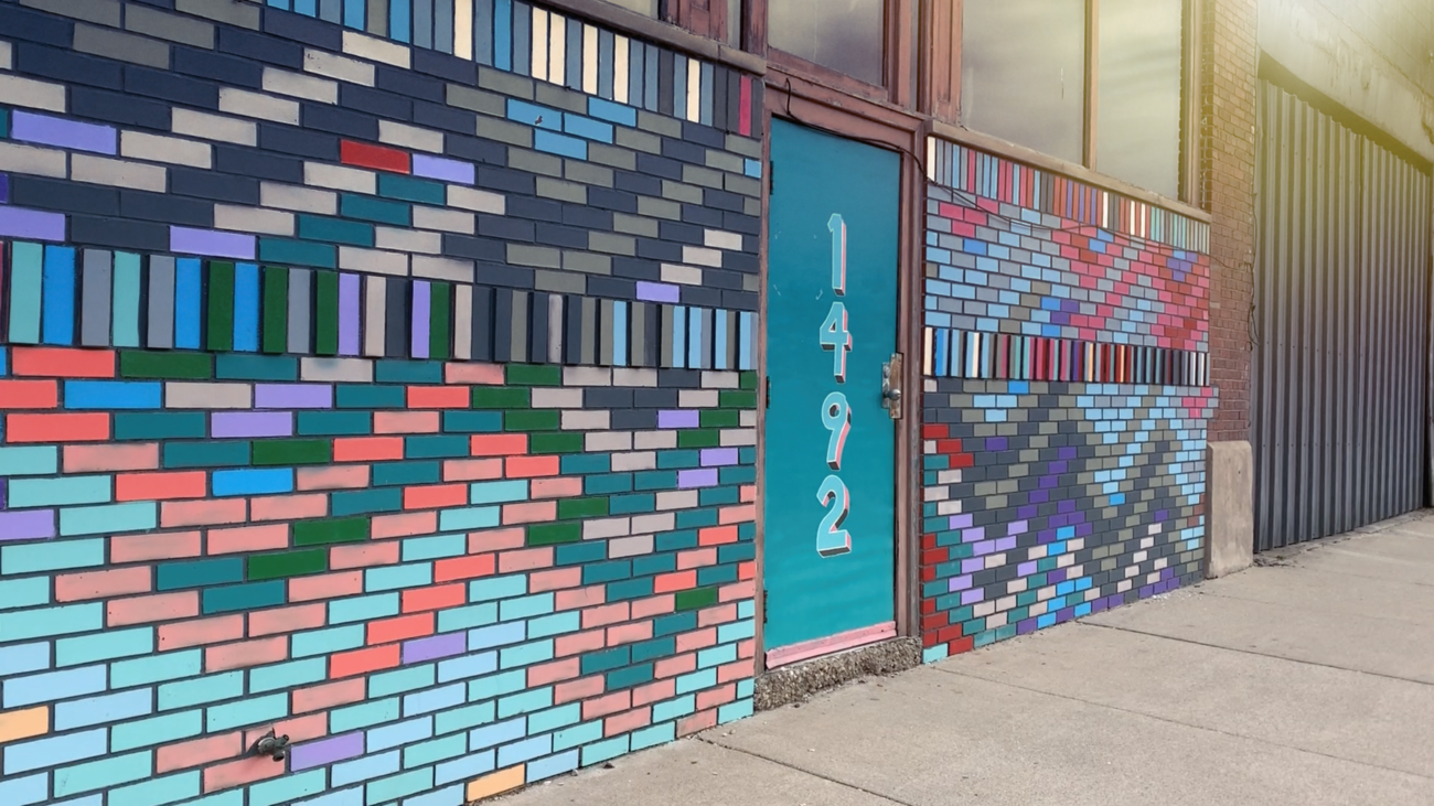 Door and mural on Gratiot and Riopelle streets