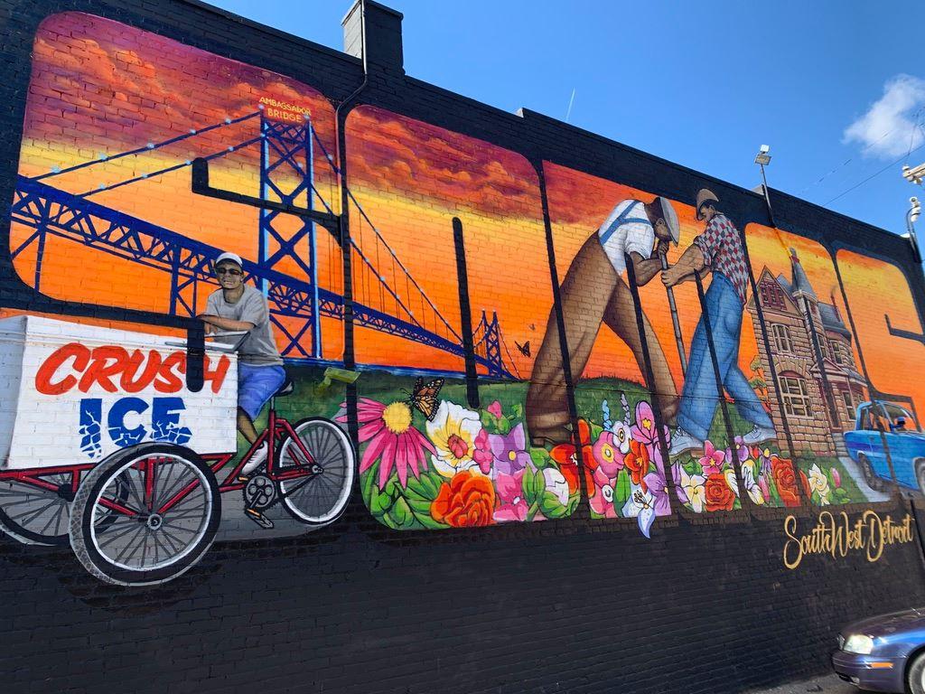 A mural in Southwest Detroit