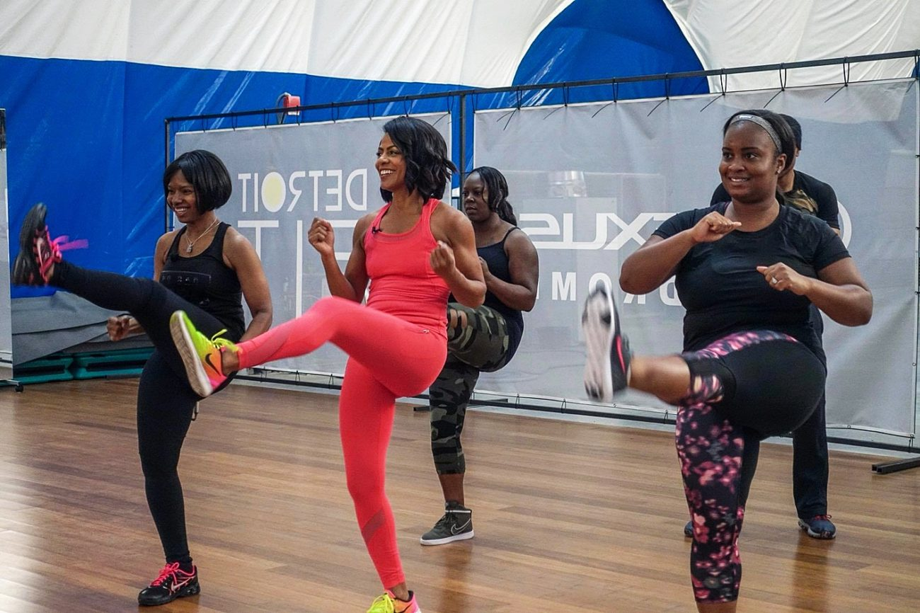 Fitness class at the Lexus Velodrome